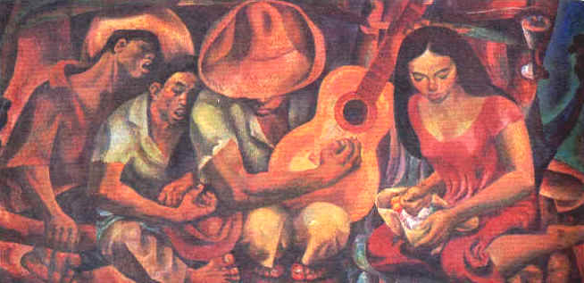 Love courtship in filipino culture for Ano ang mural painting