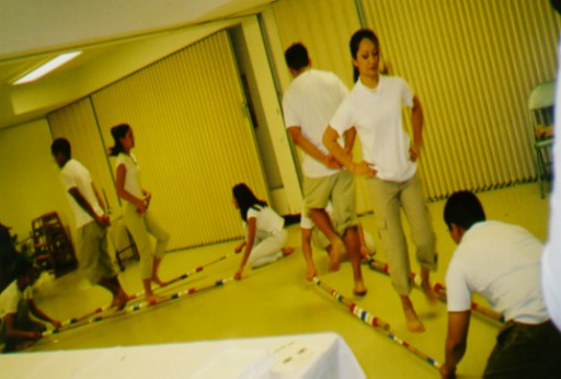 PSA members perform amodern version of the Tinikling dance