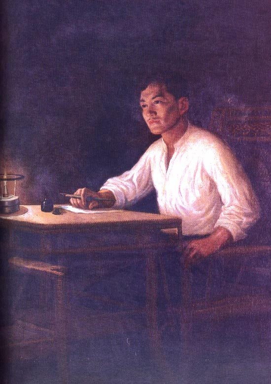 Jose Rizal Writing